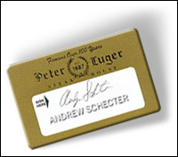 Peter Lugers Card