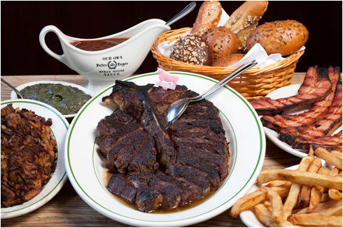A Traditional Peter Luger Dinner